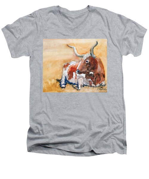 His Majesty Men's V-Neck T-Shirt by Ron Stephens