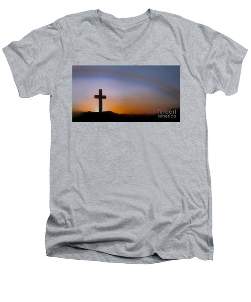 Men's V-Neck T-Shirt featuring the photograph His Promise by Benanne Stiens