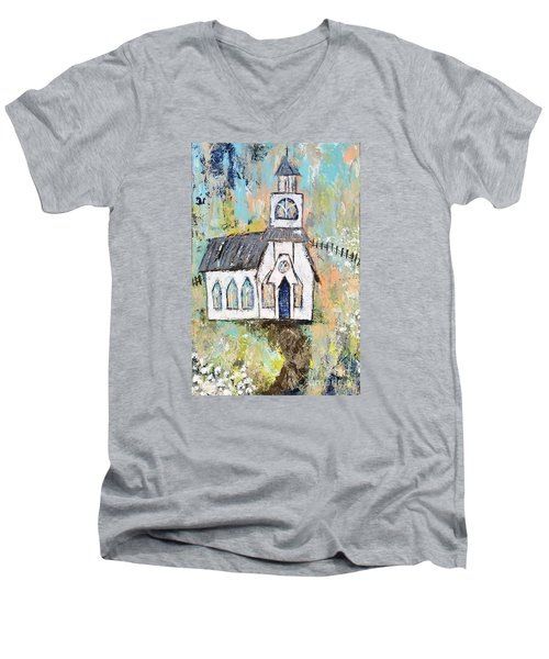 His Purpose Will Prevail Men's V-Neck T-Shirt by Kirsten Reed