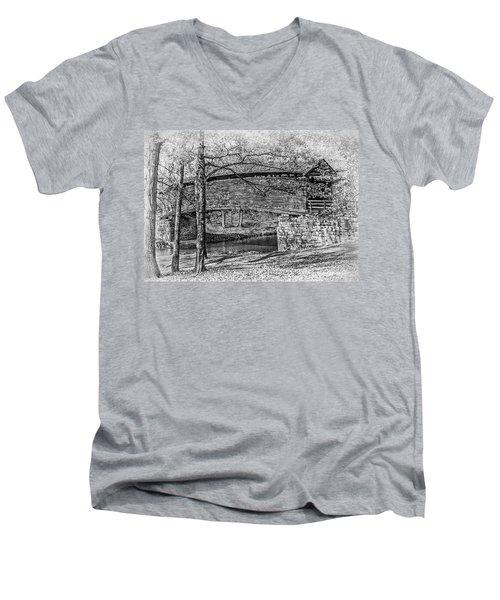 Historic Bridge Men's V-Neck T-Shirt