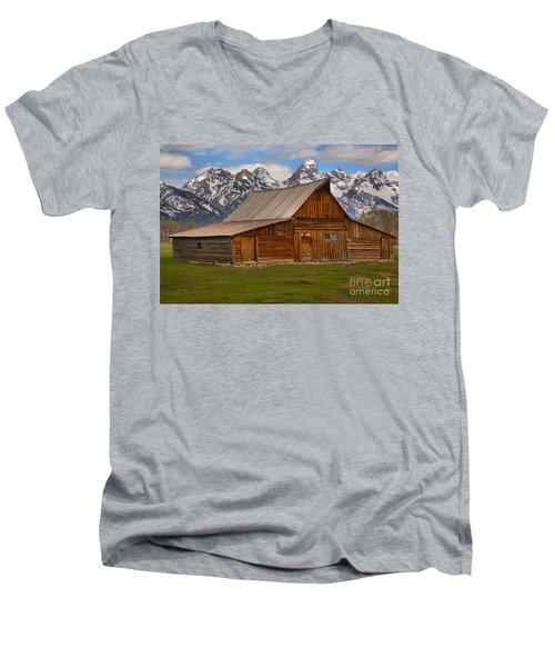 Historic Moulton Barn Men's V-Neck T-Shirt by Adam Jewell