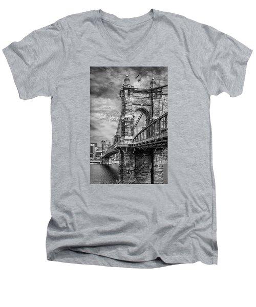 Historic Roebling Bridge Men's V-Neck T-Shirt