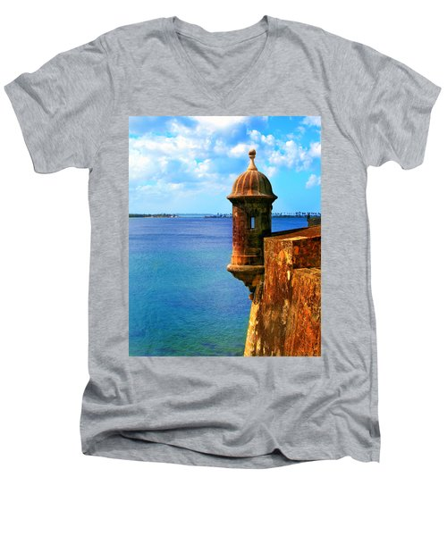 Historic San Juan Fort Men's V-Neck T-Shirt