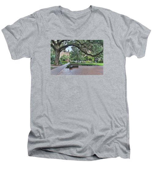 Historic Sqaure Men's V-Neck T-Shirt