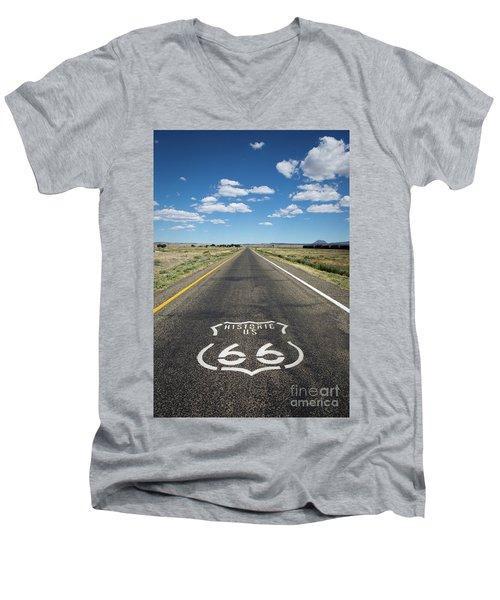 Historica Us Route 66 Arizona Men's V-Neck T-Shirt