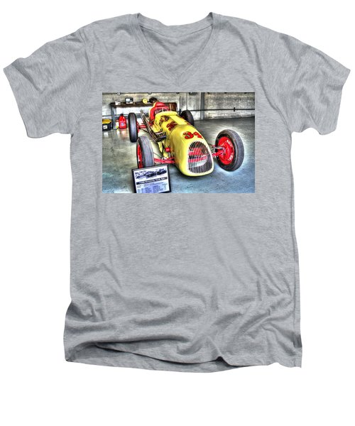 History Men's V-Neck T-Shirt by Josh Williams