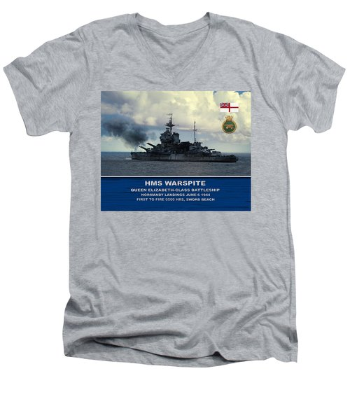 Hms Warspite Men's V-Neck T-Shirt