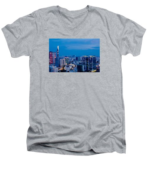 Ho Chi Minh City Night Men's V-Neck T-Shirt