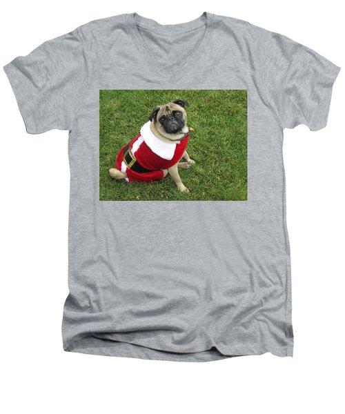 Ho, Ho, Ho Men's V-Neck T-Shirt by Russell Keating