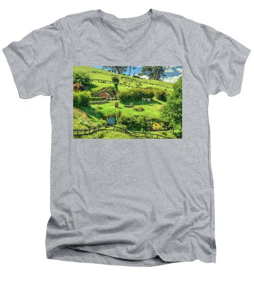 Hobbit Hills Men's V-Neck T-Shirt