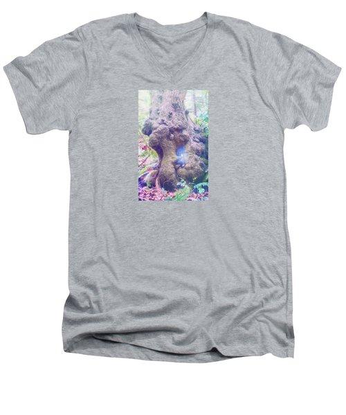 Men's V-Neck T-Shirt featuring the photograph Hobbit House by Jean OKeeffe Macro Abundance Art