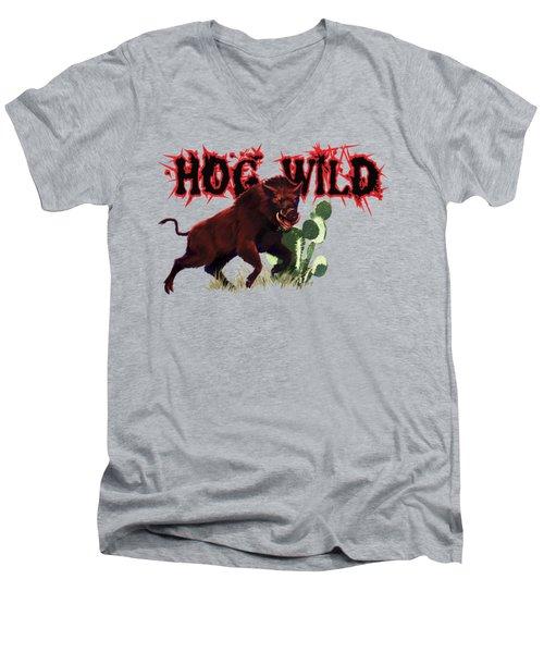 Hog Wild Tee Men's V-Neck T-Shirt
