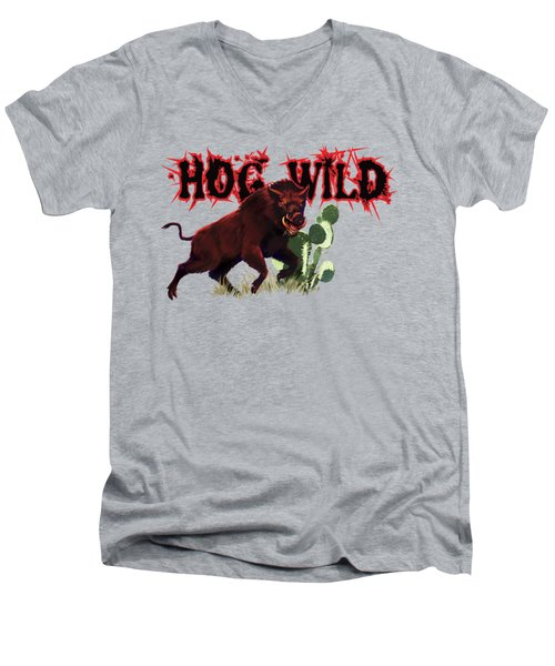 Hog Wild Tee Men's V-Neck T-Shirt