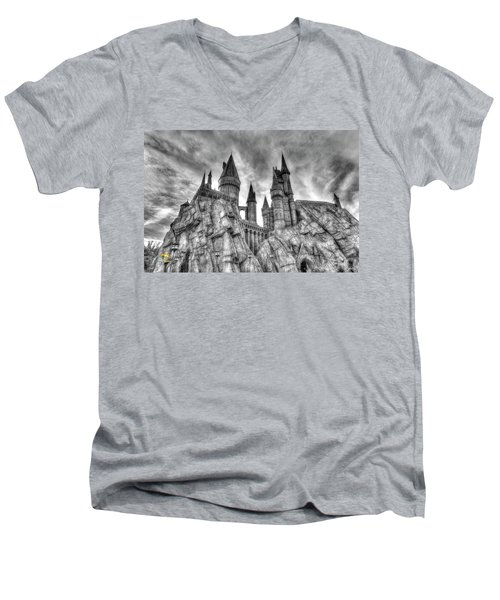 Hogwarts Castle 1 Men's V-Neck T-Shirt