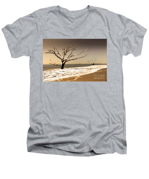 Men's V-Neck T-Shirt featuring the photograph Hold The Line by Dana DiPasquale