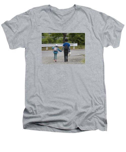Holding Hands Men's V-Neck T-Shirt
