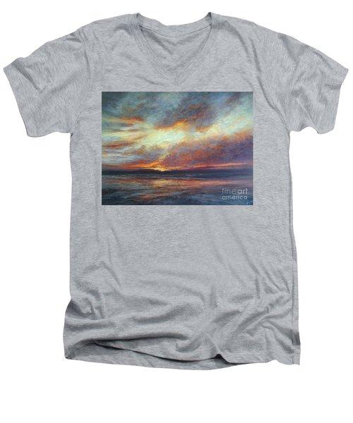 Holding On A Little Longer Men's V-Neck T-Shirt by Valerie Travers