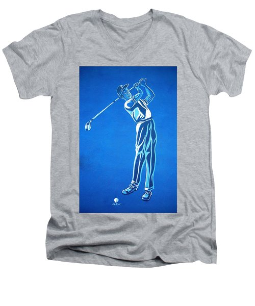 Men's V-Neck T-Shirt featuring the photograph Hole In One ... by Juergen Weiss