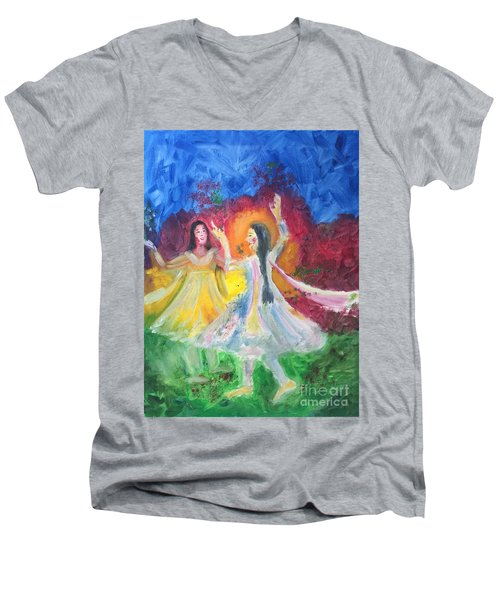 Holi-festival Of Colors Men's V-Neck T-Shirt
