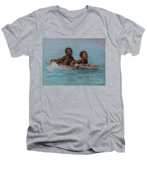 Holiday Splash Men's V-Neck T-Shirt