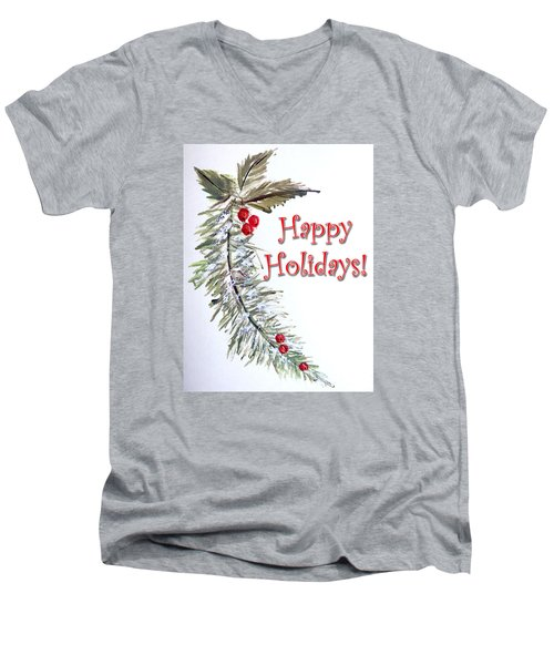Holidays Card - 3 Men's V-Neck T-Shirt