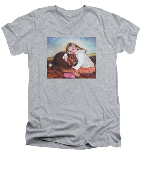 Hollis And Hannah - Cropped Version Men's V-Neck T-Shirt
