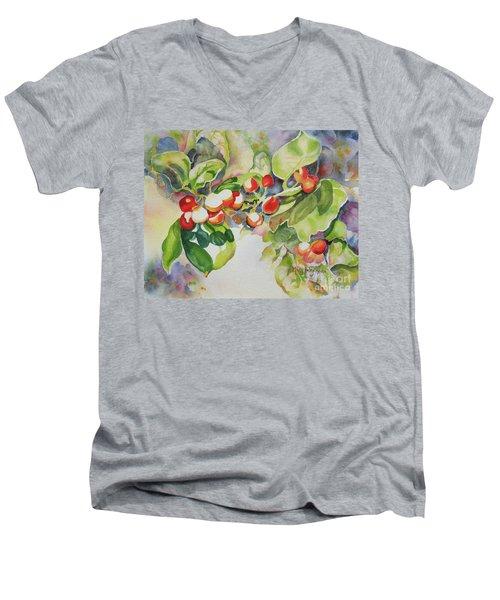Holly Berries Men's V-Neck T-Shirt