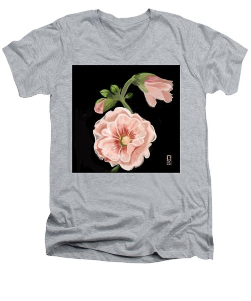 Hollyhock Men's V-Neck T-Shirt