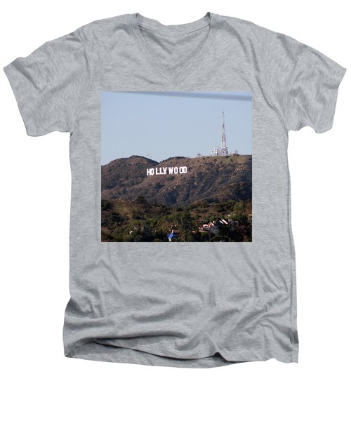 Hollywood And Helicopters Men's V-Neck T-Shirt