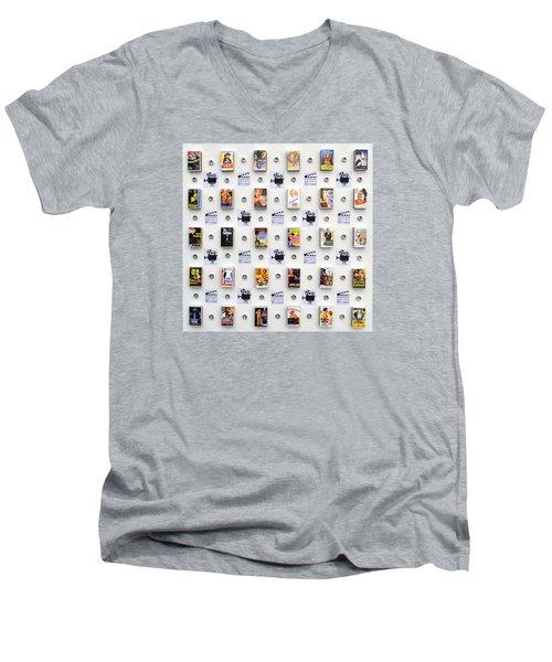 Hollywood On A Matchbox Men's V-Neck T-Shirt