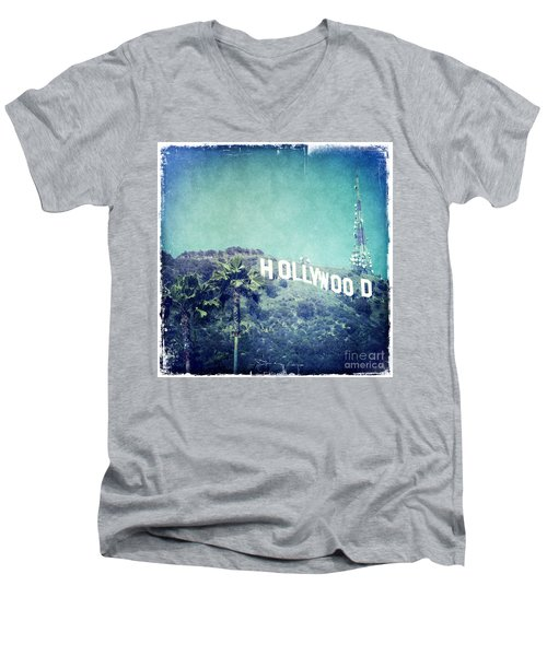 Hollywood Sign Men's V-Neck T-Shirt