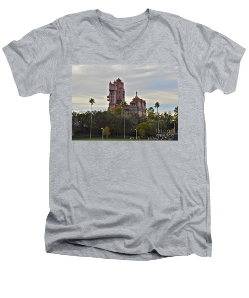 Hollywood Studios Tower Of Terror Men's V-Neck T-Shirt