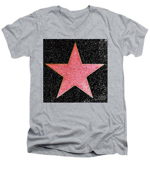 Hollywood Walk Of Fame Star Men's V-Neck T-Shirt