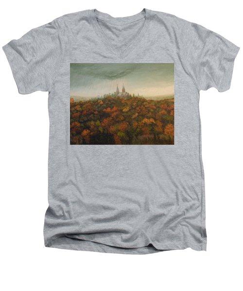 Holy Hill Rain Storm Men's V-Neck T-Shirt