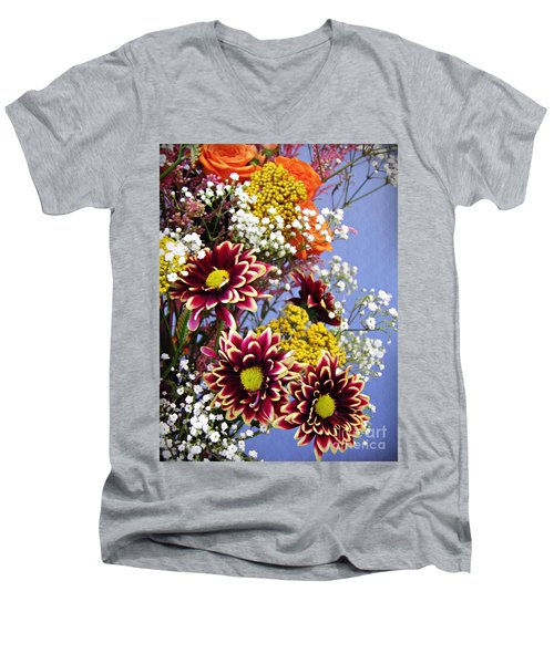 Men's V-Neck T-Shirt featuring the photograph Holy Week Flowers 2017 4 by Sarah Loft