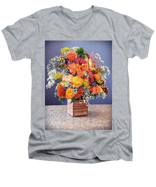 Men's V-Neck T-Shirt featuring the photograph Holy Week Flowers 2017 by Sarah Loft