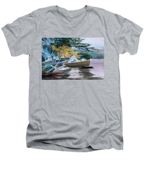 Homage To Winslow Homer Men's V-Neck T-Shirt by Mindy Newman