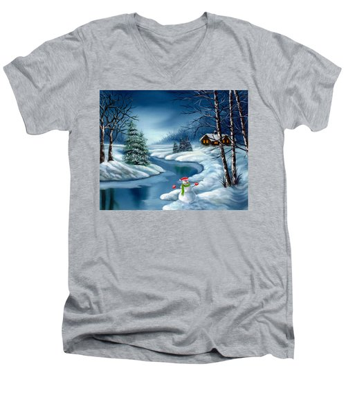 Home For The Holidays Men's V-Neck T-Shirt