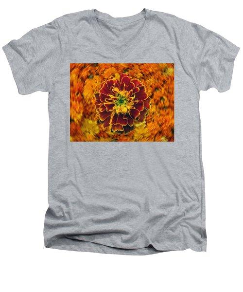 Home Grown Marigold Men's V-Neck T-Shirt