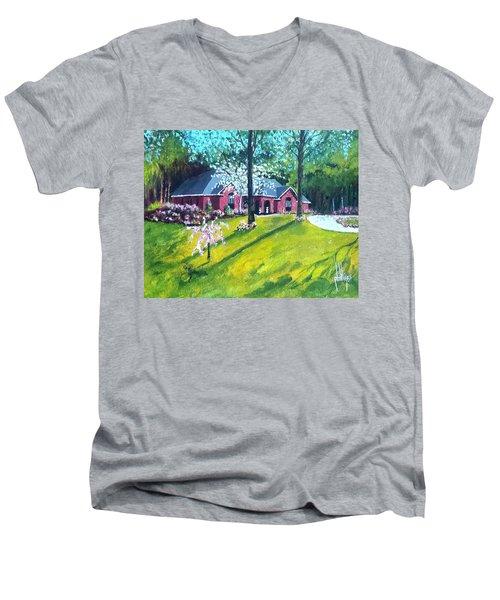 Home In Batesville, Ms Men's V-Neck T-Shirt