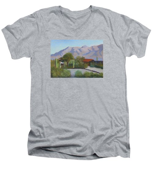 Home In The Catalinas Men's V-Neck T-Shirt by Susan Woodward