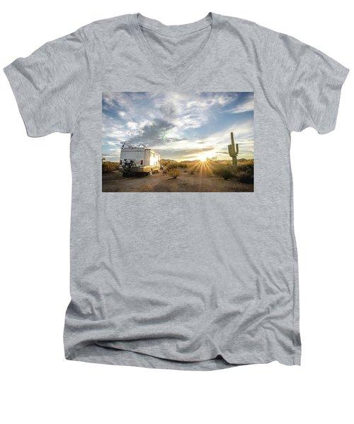 Home In The Desert Men's V-Neck T-Shirt