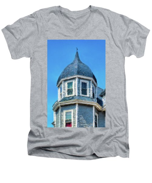 Home In Winthrop By The Sea Men's V-Neck T-Shirt