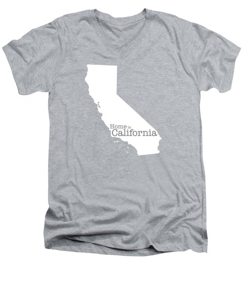 Home Is California Men's V-Neck T-Shirt by Bruce Stanfield
