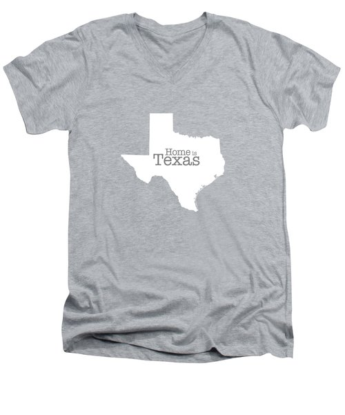 Home Is Texas Men's V-Neck T-Shirt by Bruce Stanfield