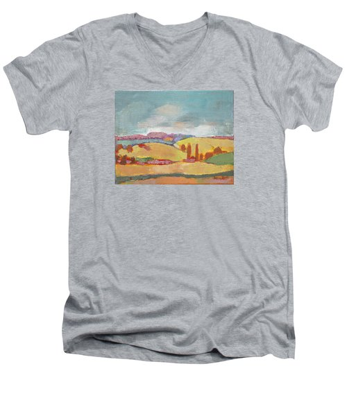 Home Land Men's V-Neck T-Shirt by Becky Kim