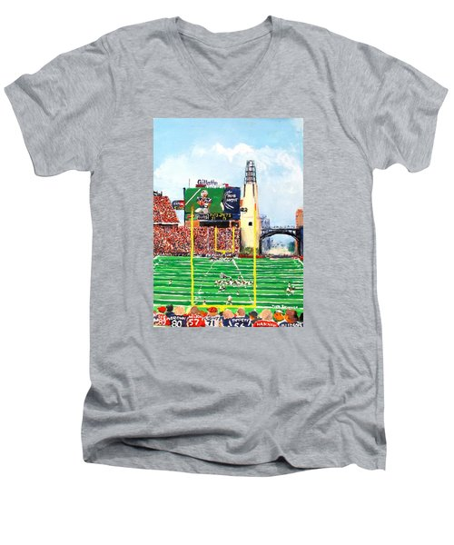 Home Of The Pats Men's V-Neck T-Shirt by Jack Skinner