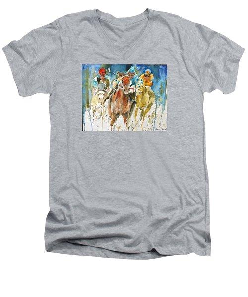Home Stretch Men's V-Neck T-Shirt