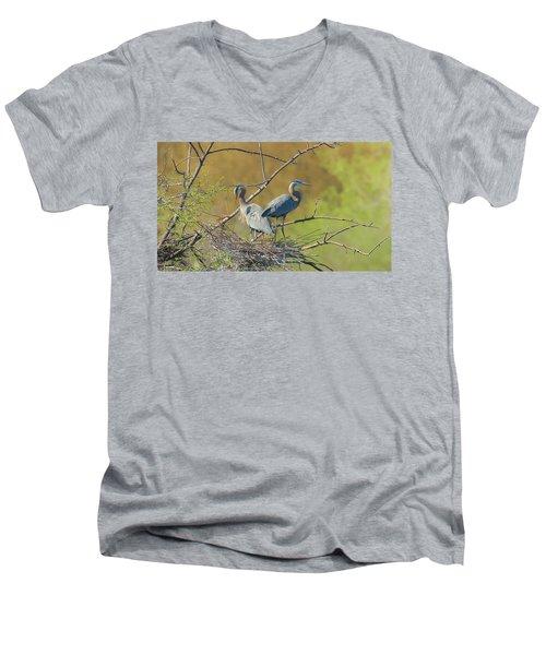 Home Town Blues Men's V-Neck T-Shirt