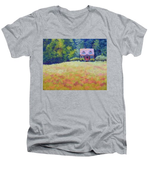 Homestead Men's V-Neck T-Shirt by Nancy Jolley